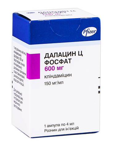 Далацин Ц фосфат розчин для ін'єкцій 150 мг/мл 4 мл 1 ампула