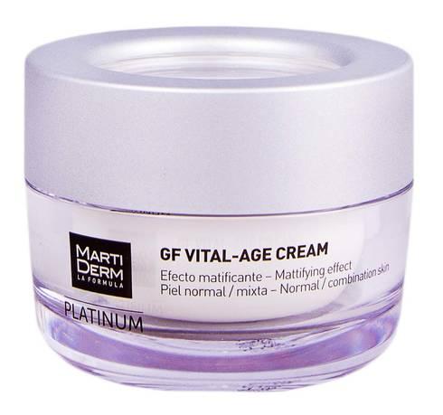 MartiDerm Platinum GF Вітал-Ейдж крем для нормальної та комбінованої шкіри 50 мл 1 банка