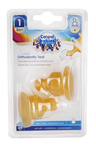 Canpol Babies Соска латексна анатомічна повільна від 3 місяців 23/101 2 шт