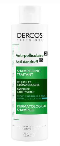 Vichy Dercos Anti dandruff DS Шампунь проти лупи для нормального, жирного волосся та подразненої шкіри голови 200 мл 1 флакон