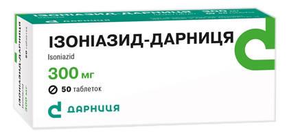 Ізоніазид Дарниця таблетки 300 мг 50 шт