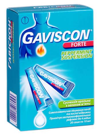 Гавіскон форте з запахом м'яти суспензія оральна 20 саше
