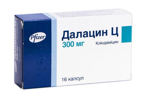 Далацин Ц капсули 300 мг 16 шт