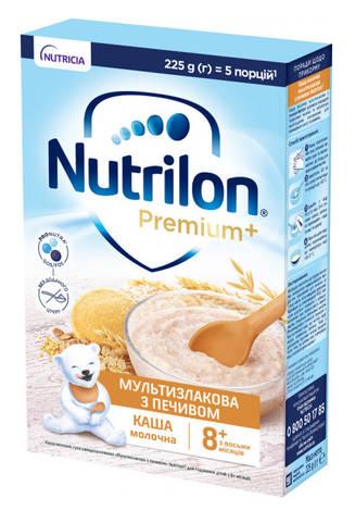 Nutrilon Каша молочна Мультизлакова з печевом з 8 місяців 225 г 1 коробка
