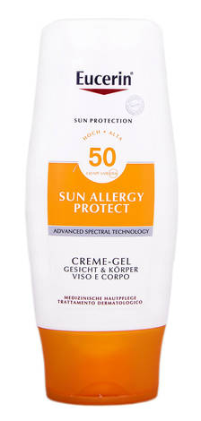 Eucerin Sun Protection Крем-гель сонцезахисний для обличчя і тіла SPF-50 150 мл 1 флакон