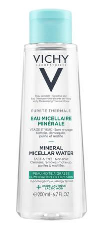 Vichy Purete Thermale Міцелярна вода для жирної та комбінованої шкіри обличчя та очей 200 мл 1 флакон