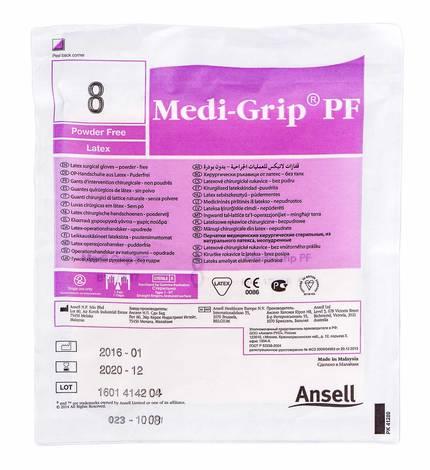 Ansell Medi-Grip PF Рукавички хірургічні латексні стерильні без пудри розмір 8 1 пара