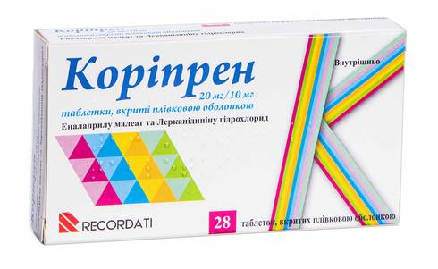 Коріпрен таблетки 20 мг/10 мг  28 шт