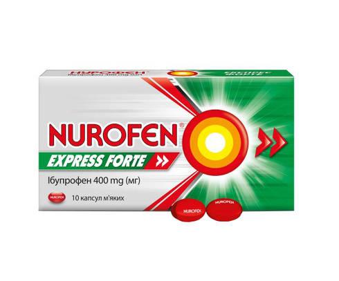 Нурофєн Експрес Форте капсули 400 мг 10 шт