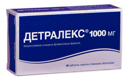 Детралекс таблетки 1000 мг 30 шт