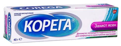 Корега Крем для фіксації зубних протезів Захист ясен 40 г 1 туба