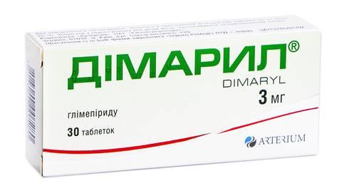 Дімарил таблетки 3 мг 30 шт