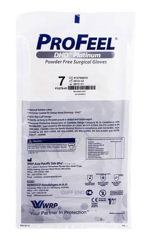 ProFeel DHD Platinum Рукавички хірургічні латексні стерильні неприпудрені розмір 7 1 пара