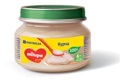 Milupa Пюре Курча з 6 місяців 80 г 1 банка