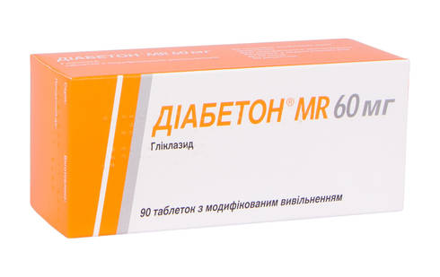 Діабетон MR таблетки 60 мг 90 шт