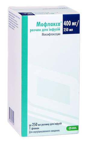 Мофлакса розчин для інфузій 400 мг 250 мл 1 флакон