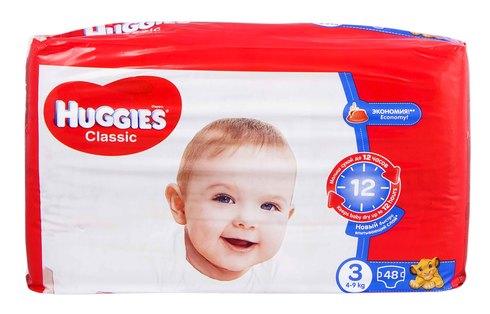 Huggies Classic 3 Підгузки дитячі 4-9 кг 48 шт