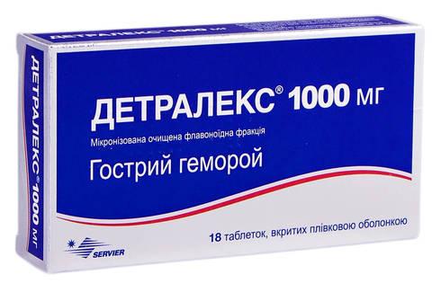Детралекс таблетки 1000 мг 18 шт