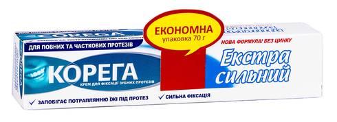 Корега Крем для фіксації зубних протезів Екстра сильний 70 мл 1 туба