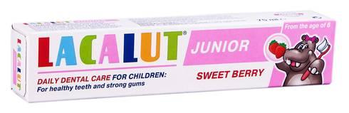 Lacalut Junior Зубна паста Cолодка ягода від 8 років 75 мл 1 туба