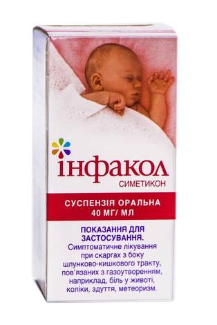 Інфакол суспензія оральна 40 мг/мл 50 мл 1 флакон