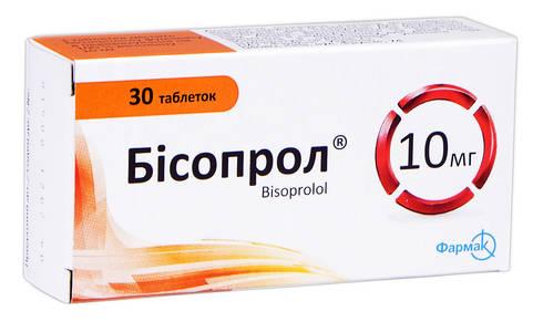 Бісопрол таблетки 10 мг 30 шт