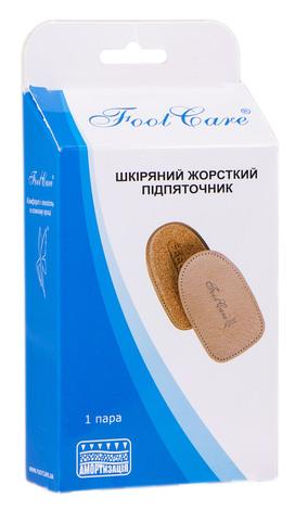 Foot Care ПЛ-003  Підп'яточник шкіряний жорсткий розмір М (35-38) 1 пара