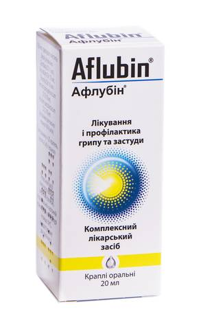 Афлубін краплі оральні 20 мл 1 флакон