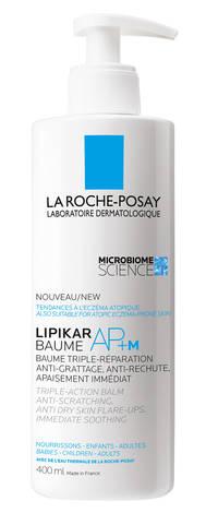 La Roche-Posay Lipikar Бальзам AP+м ліпідовідновлюючий для дуже сухої та схильної до атопії шкіри 400 мл 1 флакон
