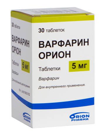 Варфарин Оріон таблетки 5 мг 30 шт