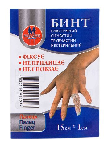 Toros-Croup 559 Бинт еластичний сітчастий трубчастий нестерильний 15х1 см палець 1 шт