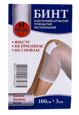 Toros-Croup 566 Бинт еластичний сітчастий трубчастий нестерильний 100х3 см коліно 1 шт