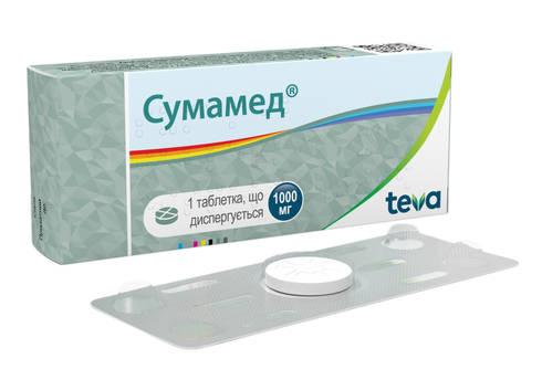 Сумамед таблетки дисперговані 1000 мг 1 шт