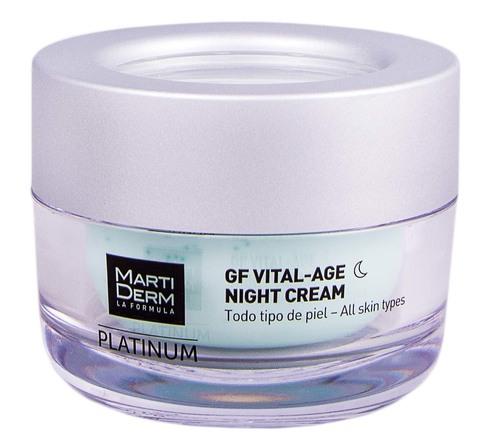 MartiDerm Platinum GF Вітал-Ейдж Найт крем для всіх типів шкіри 50 мл 1 банка