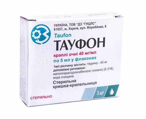 Тауфон краплі очні 40 мг/мл 5 мл 3 флакон