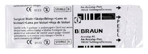 B.Braun  Лезо для скальпеля карбонове 15 1 шт