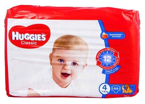 Huggies Classic 4 Підгузки дитячі 7-18 кг 44 шт