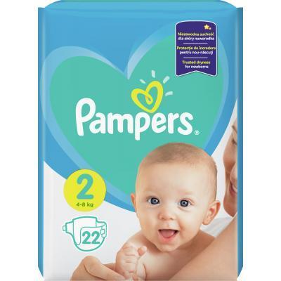 Pampers New Baby-Dry 2 Mini Підгузки дитячі 4-8 кг 22 шт