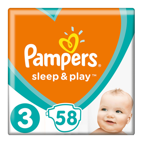 Pampers Sleep & Play 3 Midi Підгузки дитячі 4-9 кг 58 шт