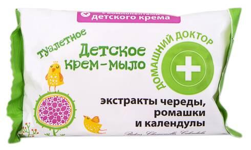 Домашній Доктор Крем-мило дитяче з екстрактами Череди ромашки та календули 70 г 1 шт