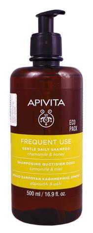 Apivita Шампунь делікатний для щоденного використання з ромашкою і медом 500 мл 1 флакон