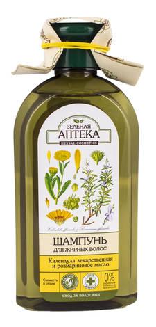 Зелена Аптека Шампунь для жирного волосся календула і розмаринова олія 350 мл 1 флакон