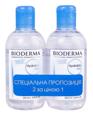 Bioderma Hydrabio H2O Лосьйон міцелярний Дуо 2х250 мл 1 набір