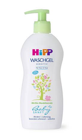 HiPP Baby sanft Гель дитячий для купання для тіла та волосся 400 мл 1 флакон