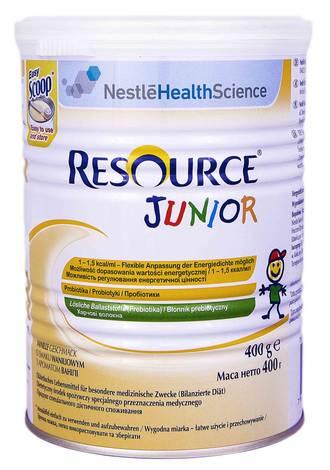Nestle Ресурс Джуніор Суха суміш з ароматом ванілі від 1 до 10 років 400 г 1 банка