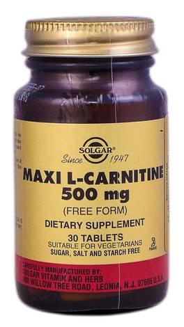 Solgar L-Карнітин таблетки 500 мг 30 шт