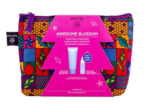 Apivita Aqua Beelicious Крем комфортний насиченої текстури 40 мл + Сироватка-бустер освіжаюча зволожуюча 10 мл 1 набір