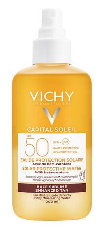 Vichy Capital Soleil Спрей водний двофазний для обличчя та тіла з бета-каротином, що посилює засмагу SPF-50 200 мл 1 флакон
