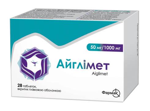 Айглімет таблетки 50 мг/1000 мг  28 шт
