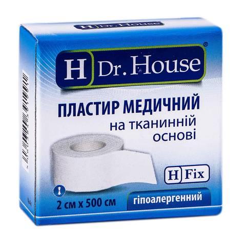 H Dr. House Пластир медичний на тканинній основі 2х500 см 1 шт